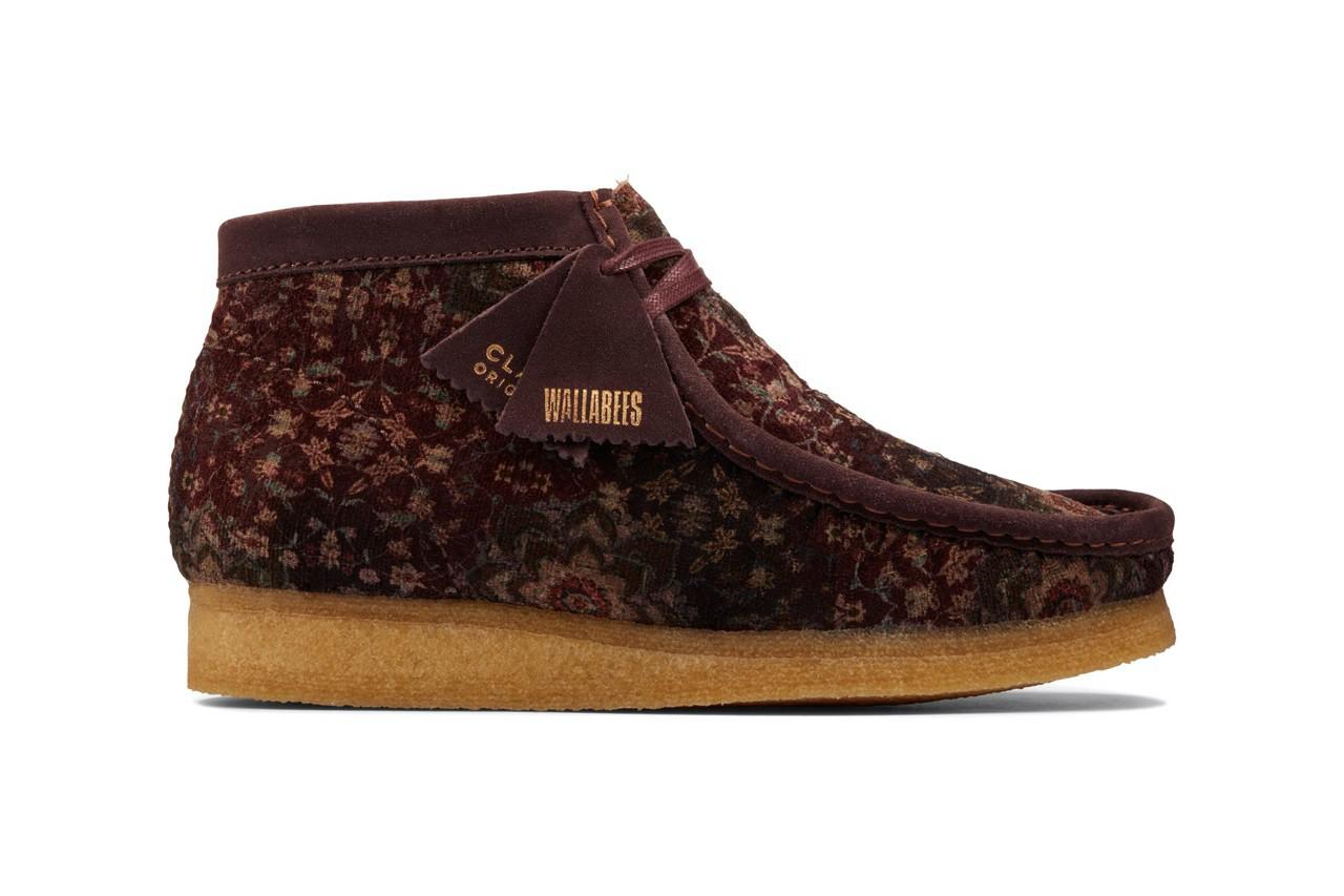 Clarks Wallabee Boot Burgundy Velvet