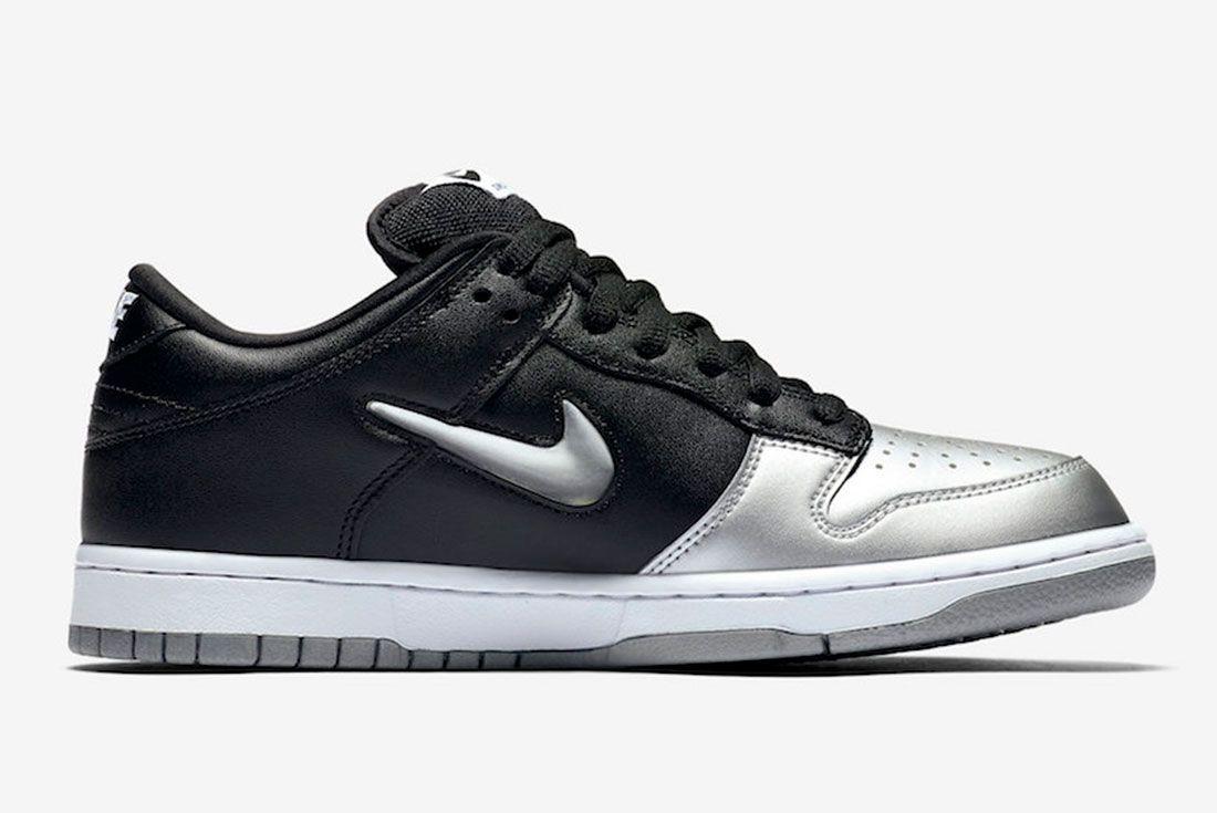 Supreme Nike Sb Dunk Low Metallic Silver Ck3480 001 2019 Release Date 2 Side
