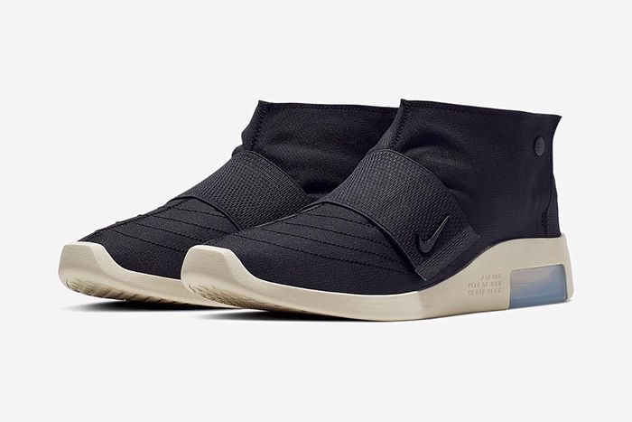 Nike Air Fear Of God Moccasin Official Black Release Date Pair