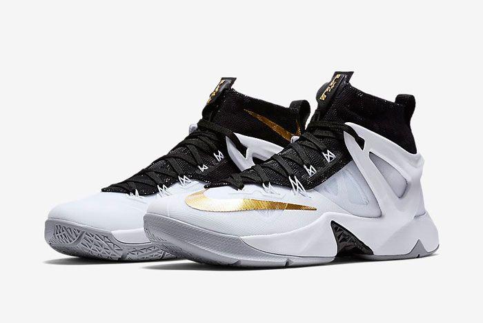 Nike Lebron Ambassador 8 White Black Gold 1