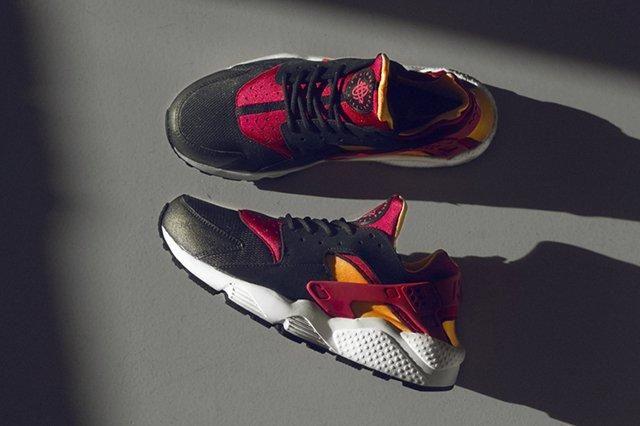 Size Nike Air Huarache Le Exclusive Lazer Orange Fuchia