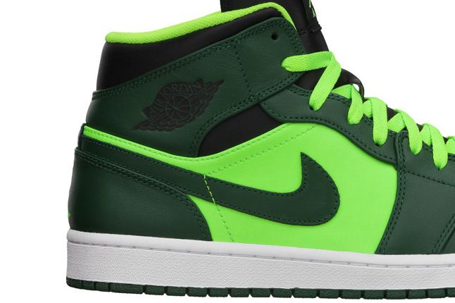 Jordan 1 Mid Electric Green Heel 1