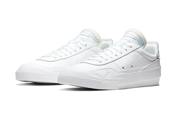 Nike Drop Type Lx Triple White Cn6916 100 Release Date Pair