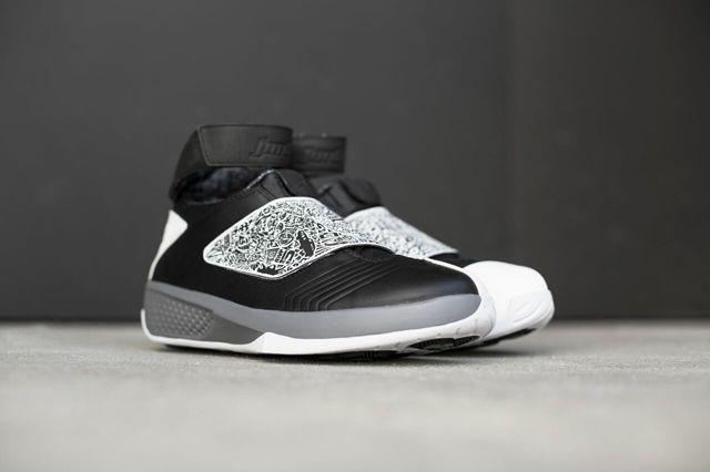 Air Jordan 20 Black White Bump 5