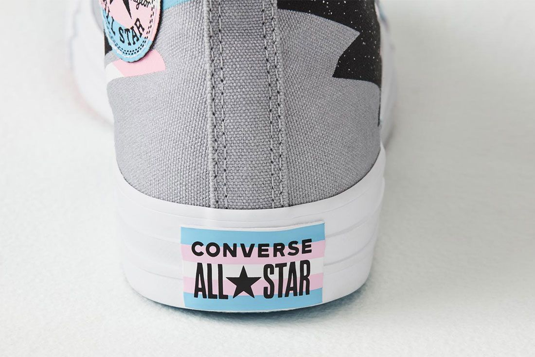Converse All Star Pride Hi Trans Flag Heel
