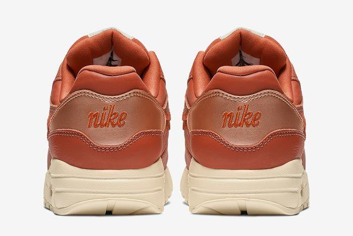 Nike Air Max 1 Premium Brown Embroidered Heels