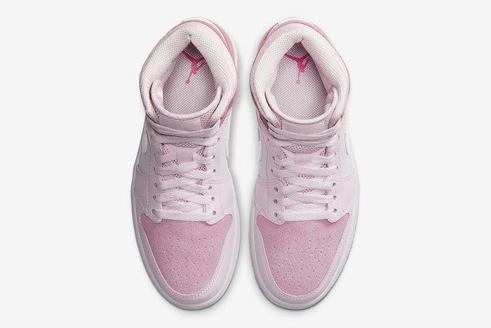 Air Jordan 1 Mid Wmns Digital Pink Top