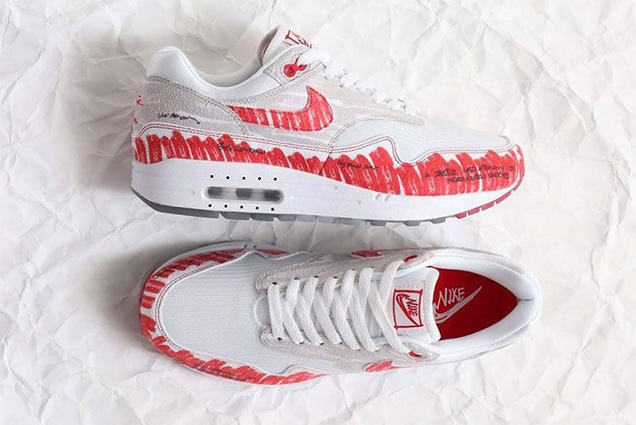 Nike Air Max 1 Sketch To Shelf Red Top