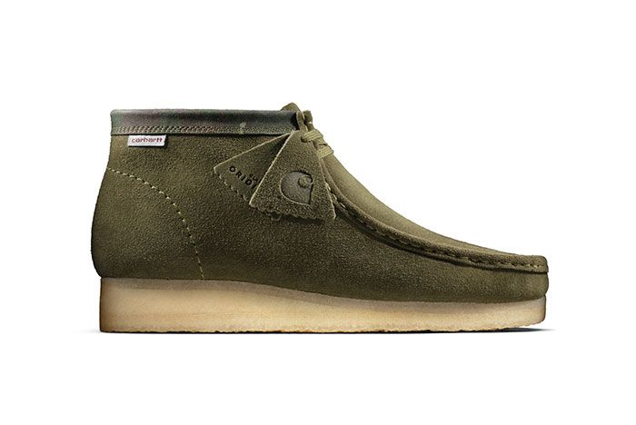 Carhartt Clarks Wallabee Olive Lateral