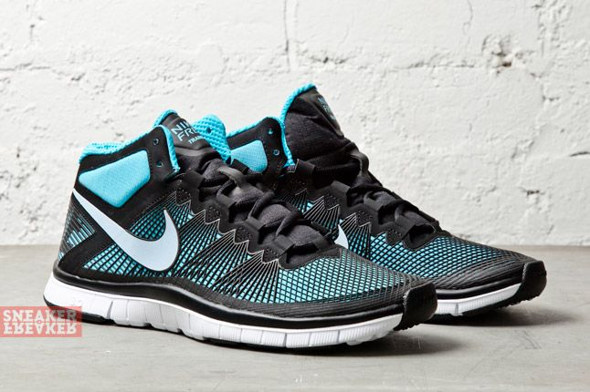 Nike Free Trainer 3 0 Mid Black Light Armory Blue 2
