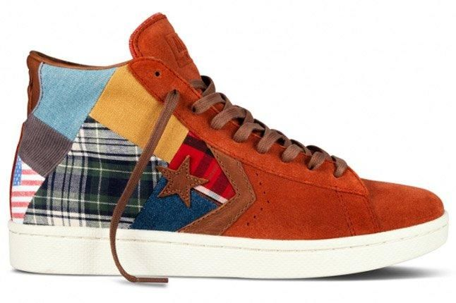 Stussy Nyc Converse 2012 First String Pro Leather Burnt Orange 1