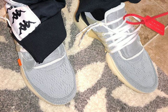 Off White Nike Presto Silver
