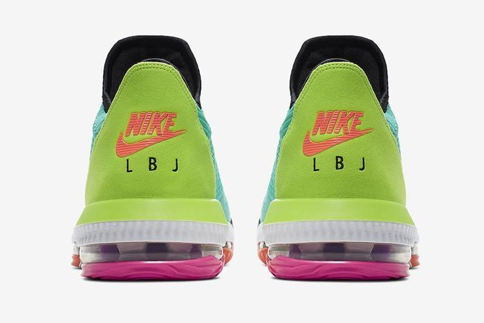 Nike Lebron 16 Hyper Jade Heels
