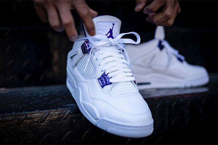 Air Jordan 4 Court Purple Stairs Toe 2