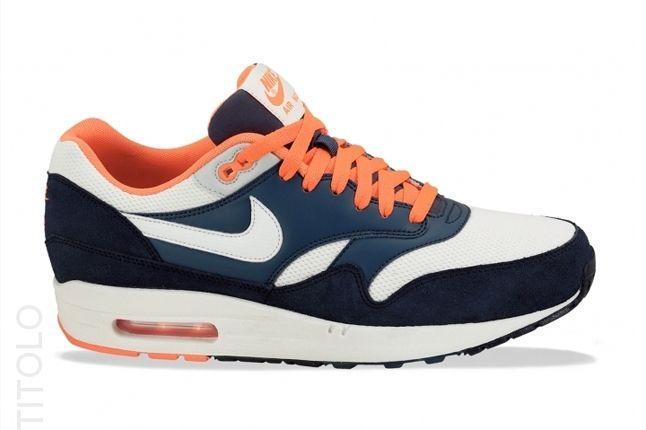 Nike Am1 Essentials Orange Turquoise Profile 1