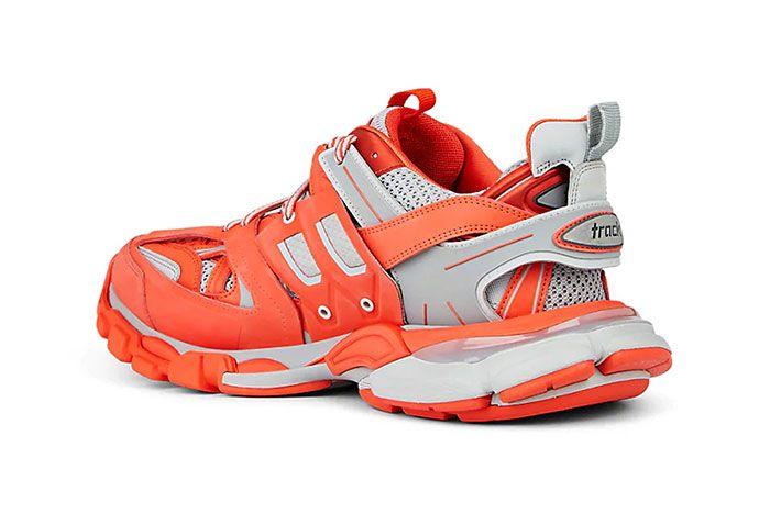 Balenciage Track Sneaker Orange Rear