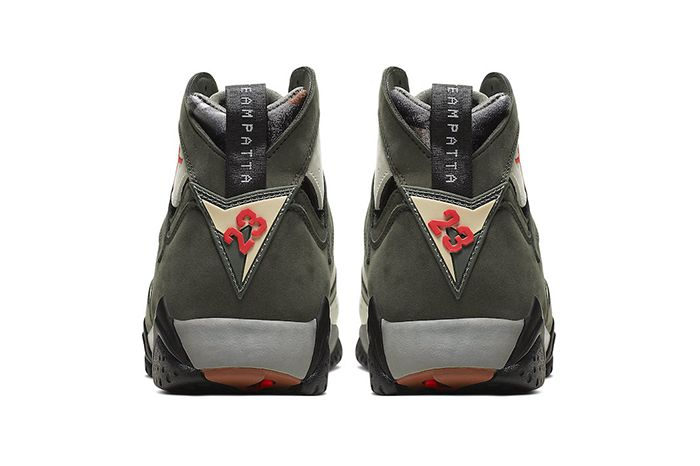 Patta Air Jordan 7 Og Sp Icicle Official At3375 100 Release Date Heel