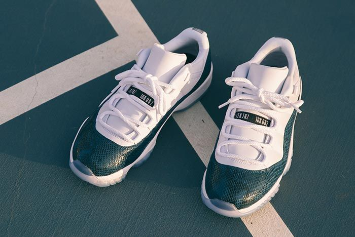 Air Jordan 11 Low Snakeskin Above Shot