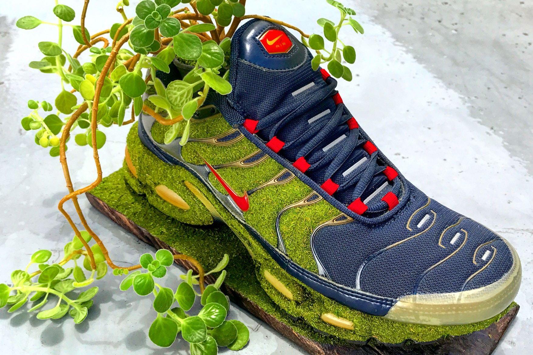 Artist Shoetree Nike Sneakers Sculptural Houseplants 8