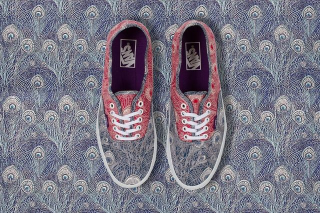 Vans X Liberty Authentic Liberty Peacock True White Holiday 2013