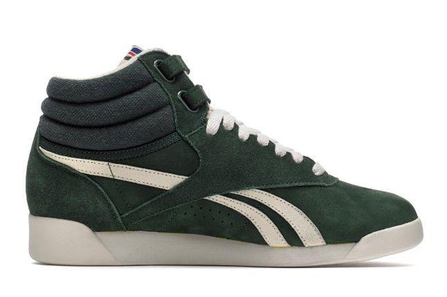 Reebok Freestylehi Vintage Green Outer 1