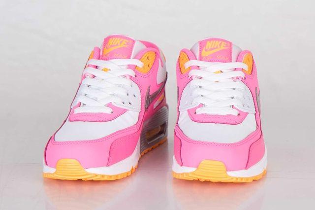 Nike Air Max 90 Gs Pink Glow Metallic Silver 5