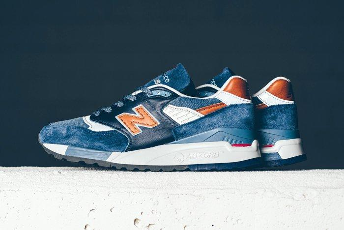 New Balance 998 Camel Blue Sneaker Politics Bump 5