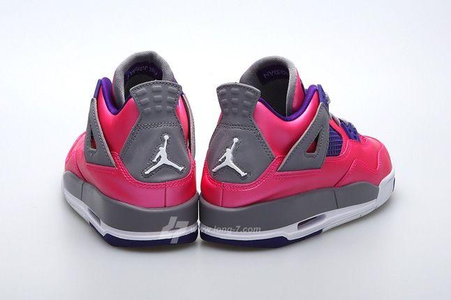 Air Jordan 4 Pink Foil Heel Profile
