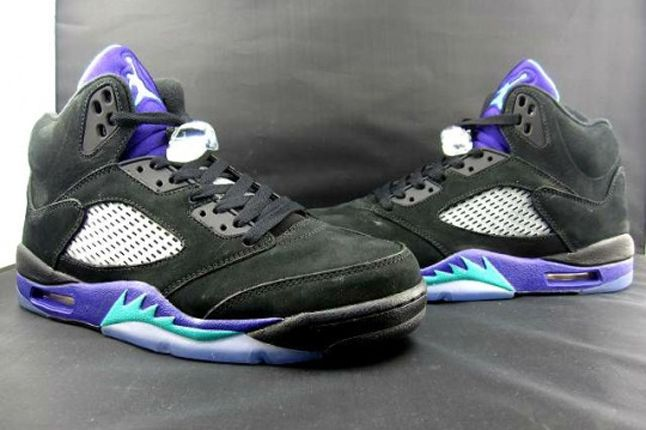 Air Jordan V Black Grape Toe2Toe Hero 1