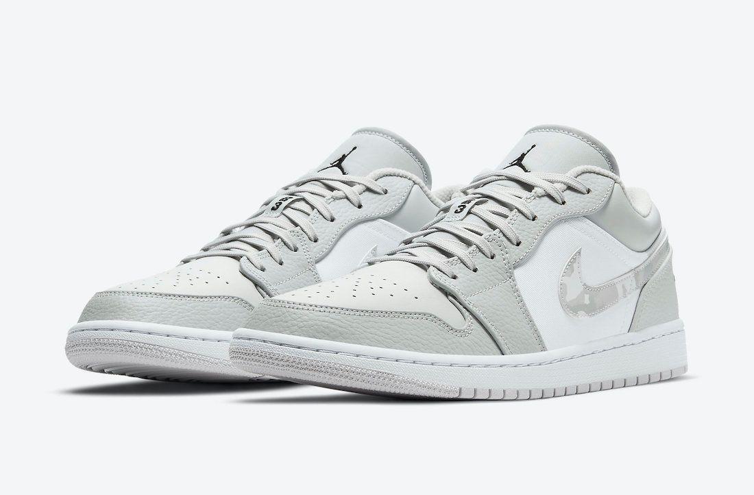Air Jordan 1 Low White Camo Angled