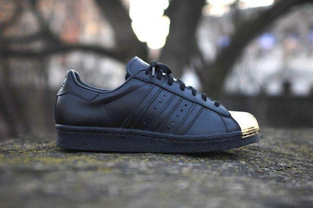 Adidas Originals Superstar 80 Metal Toe Black Gold 6