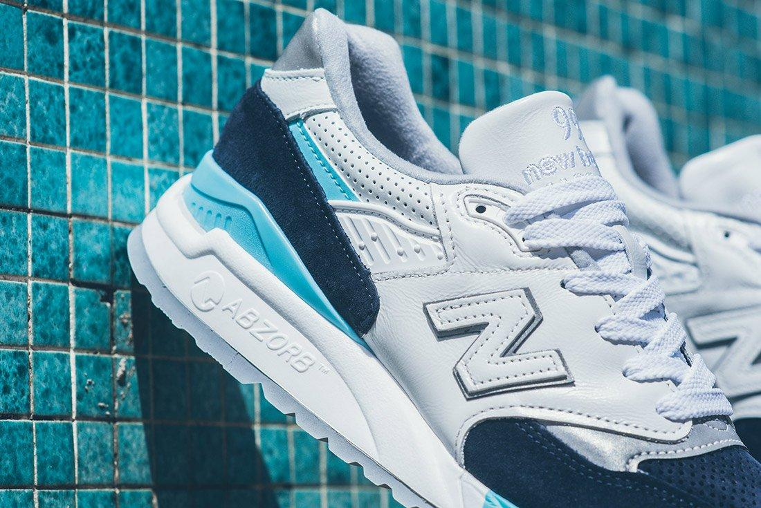 New Balance 998 White Navy Blue 2