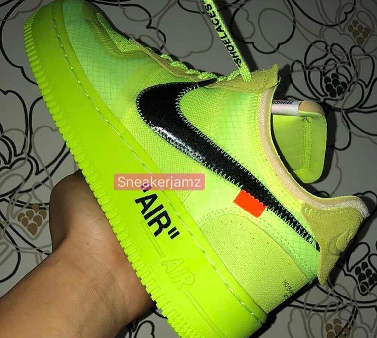 Off White Nike Air Force 1 Volt 2