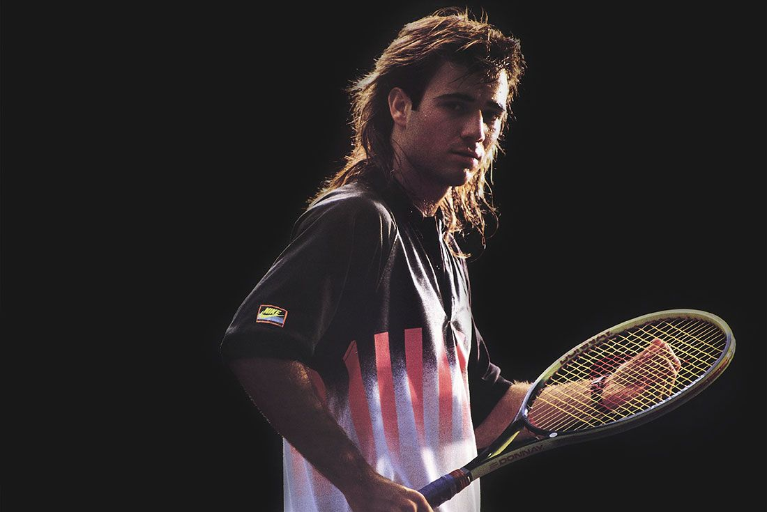 Andre Agassi Black Background