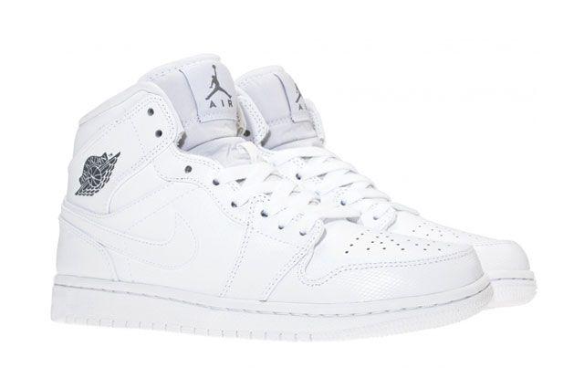 Air Jordan 1 Mid White Perspective