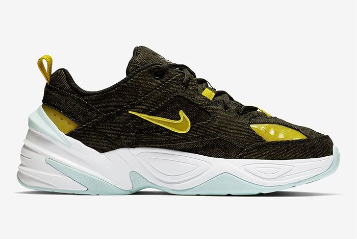 Nike M2K Tekno Denim Green Yellow Right