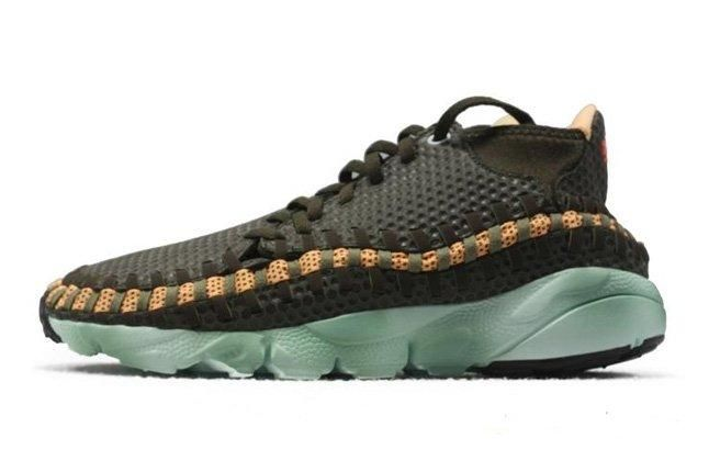 Nike Air Footscape Woven Brown Mint Profile 1