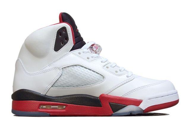 Air Jordan 5 Fire Red Black Tongue 4