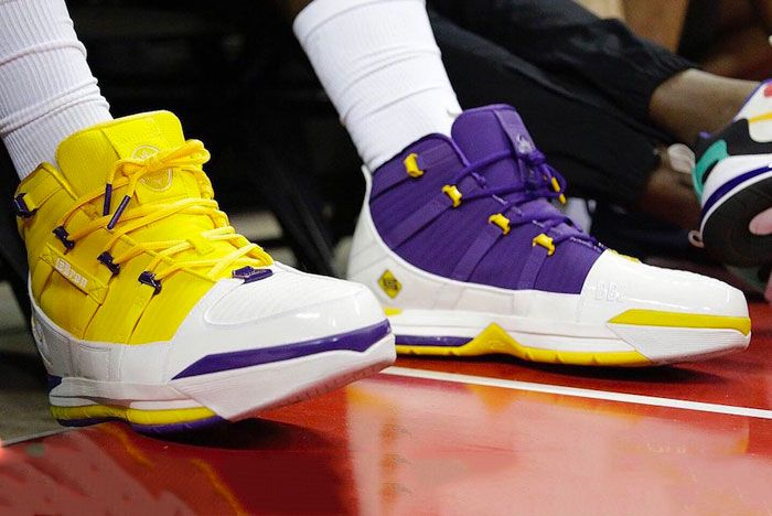 Nike Lebron 3 Lakers Toe