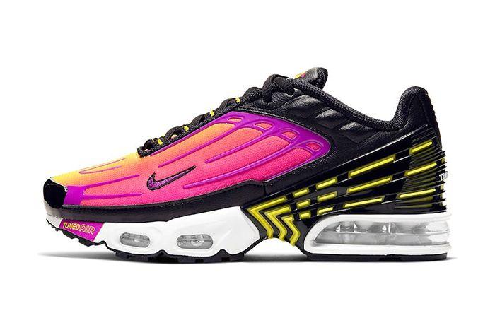 Nike Air Max Plus 3 Black Hyper Purple Optic Yellow Cd6871 005 Release Date Lateral