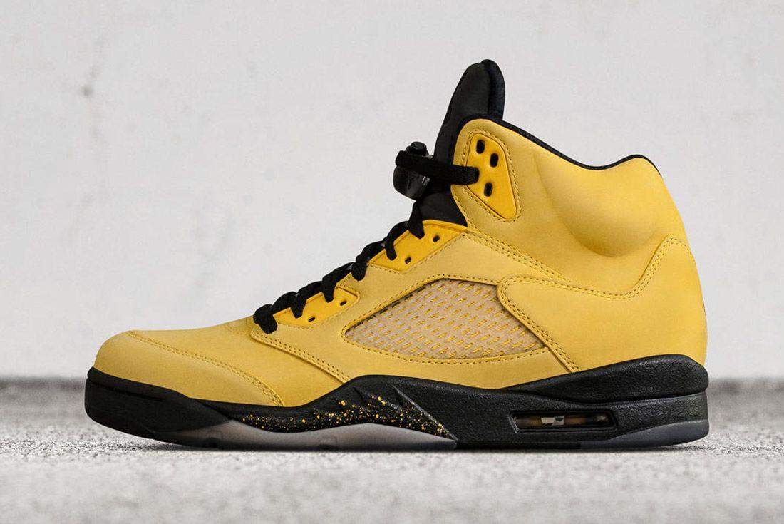 Air Jordan 5 Fab Five Yellow Black 1