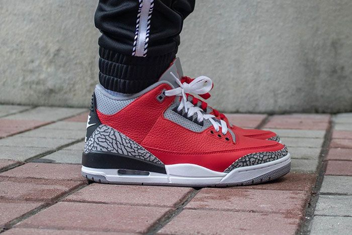 Air Jordan 3 Cement Red Fire Red All Star On Foot7
