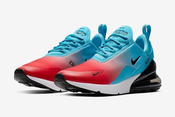 Nike Air Max 270 University Red Blue Fury Pair