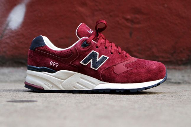 New Balance 999 Burgundy Side Profile 1