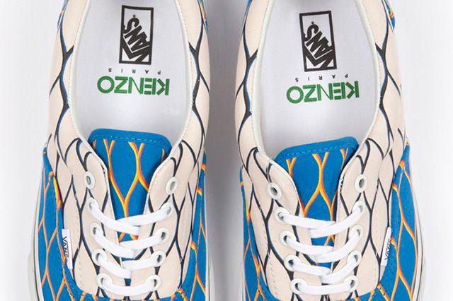 Kenzo And Vans  Era Cream Blue