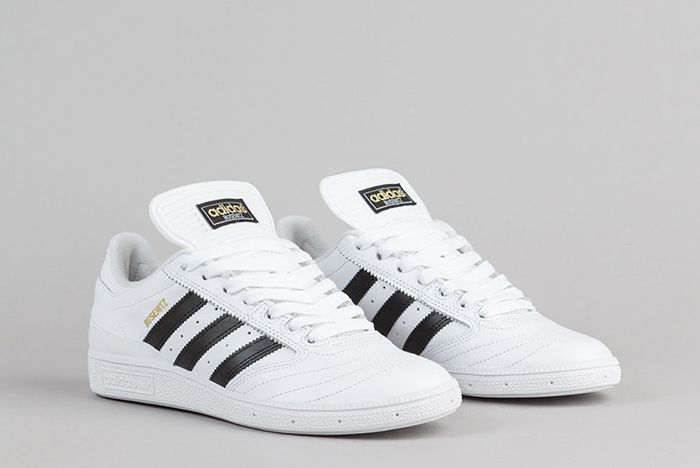 Adidas Busenitz Shoes Ftw White Core Black Gold Metallic 2