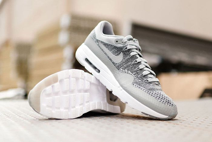 Nike Air Max 1 Flyknit Wolf Grey 2