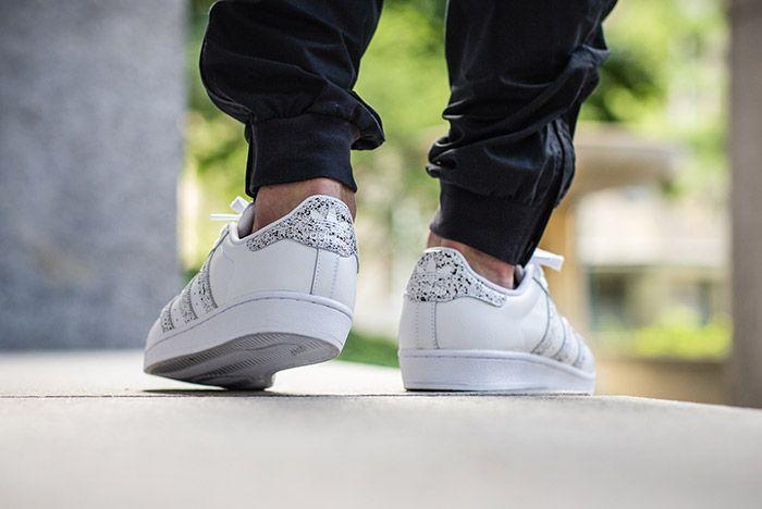 Adidas Superstar Speckled White Black 2