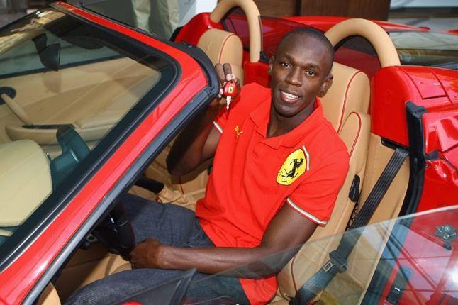 Usain Bolt Ferrari 1 1