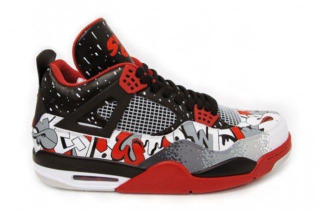 Sekure D Air Jordan 4 Custom Sin City 5 640X426